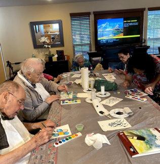 seniors playing games
