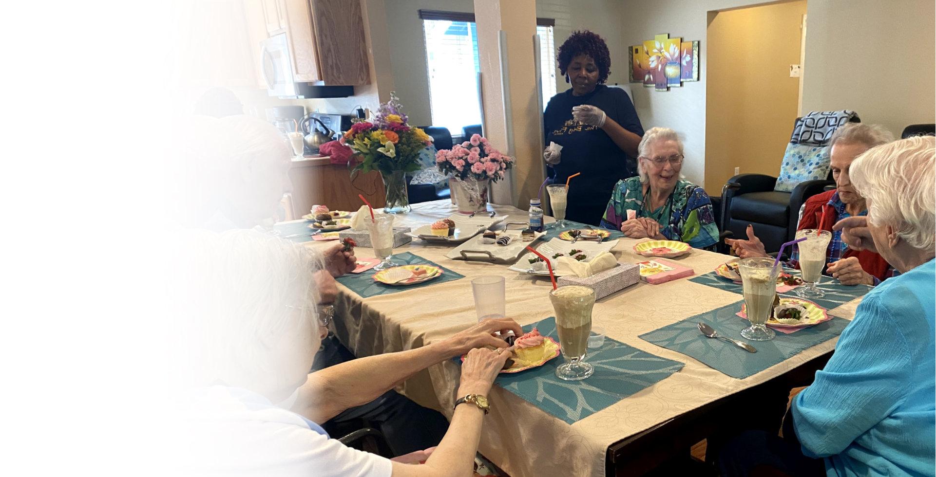 seniors having conversation