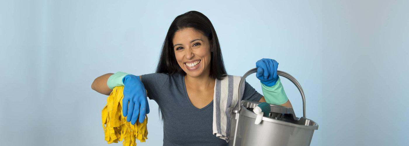 sanitation worker smiling
